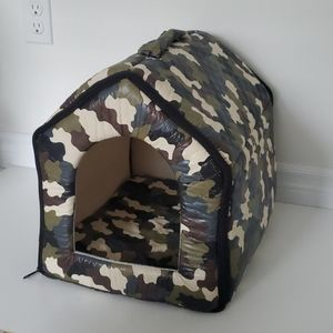 Army small pet house portable with zippers